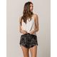 IVY & MAIN Vine Print Womens Wrap Shorts