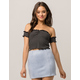 IVY & MAIN Stripe Off The Shoulder Womans Crop Top