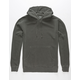 INDEPENDENT TRADING COMPANY Black Pigment Dyed Mens Hoodie