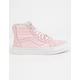 VANS SK8-Hi Zip Chalk Pink & True White Girls Shoes