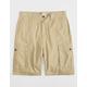 LRG RC Ripstop Dark Khaki Mens Cargo Shorts