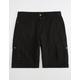 LRG RC Ripstop Black Mens Cargo Shorts