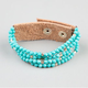 FULL TILT 5 Row Beaded Faux Leather Bracelet
