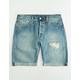 LEVI'S 501 Original Fit Kauai Mens Ripped Denim Shorts