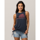 OTHERS FOLLOW Grommet Lace Up Womens Muscle Tank
