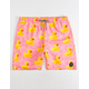 NEFF Ducky Mens Hot Tub Hot Pink Volley Shorts