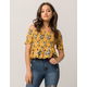 SKY AND SPARROW Smocked Off The Shoulder Womens Crop Top