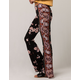 SKY AND SPARROW Floral Print Womens Flare Pants