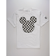 NEFF Disney Collection Mickey Head Checker White Mens T-Shirt