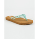 VOLCOM Forever And Ever Turquoise Girls Sandals