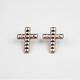 FULL TILT Pyramid Stud Cross Earrings