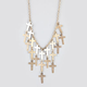FULL TILT Dangle Cross Statement Necklace