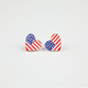 FULL TILT American Flag Heart Earrings