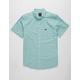 RVCA That'll Do Oxford Teal Blue Mens Shirt