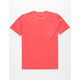 RVCA PTC 2 Pigment Crimson Boys Pocket Tee