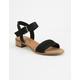 TOMS Black Suede Camilia Womens Sandals