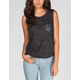 HURLEY Palm Strip Womens Muscle Tee