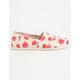 TOMS Birch Strawberries & Cream Womens Classic Slip-Ons