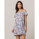 RIP CURL Tropic Tribe Off The Shoulder Dress