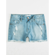 RSQ Venice Mid Rise Girls Denim Shorts