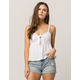 SOCIALITE Knot Front White Womens Babydoll Top