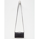 VIOLET RAY Black Leanna Zip Wallet Crossbody Bag
