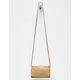 VIOLET RAY Taupe Leanna Zip Wallet Crossbody Bag