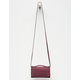 VIOLET RAY Wine Leanna Zip Wallet Crossbody Bag