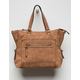 VIOLET RAY Charli Cognac Tote Bag