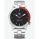 ADIDAS CYPHER_M1 Silver & Red Watch