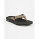 REEF Fanning Low Black & Tan Mens Sandals