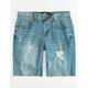 RSQ Rip & Mend Boys Ripped Denim Shorts