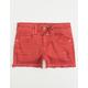 VANILLA STAR PREMIUM Step Fray Girls Ripped Denim Shorts