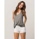 RSQ Malibu Cuff Womens White Denim Shorts