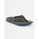 REEF Fanning Low Grey & Blue Mens Sandals