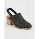 TOMS Leila Slingback Black Leather Womens Booties