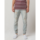 EAST POINTE Damien Denim Mens Ripped Jogger Pants