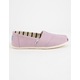 TOMS Soft Lilac Canvas Womens Classic Slip-Ons