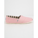 TOMS Powder Pink Heritage Canvas Womens Classic Slip-Ons