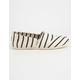 TOMS White & Navy Riviera Stripe Womens Classic Slip-Ons