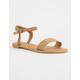 QUPID Braided Tan Womens Sandals