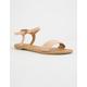 QUPID Braided Blush Womens Sandals