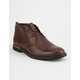 TIMBERLAND Brook Park Red Brown Smooth Leather Chukka Mens Shoes