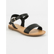 SODA Ankle Strap Girls Black Sandals
