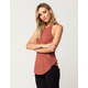 BOZZOLO Sunbaked High Neck Womens Tank
