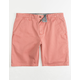 CHARLES AND A HALF Lincoln Stretch Dusty Pink Mens Shorts