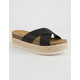 SODA Espadrille Black Womens Platform Sandals