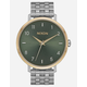 NIXON Arrow Silver Gold & Agave Watch