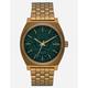 NIXON Time Teller Palm Green & Brass Watch