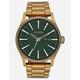 NIXON Sentry SS Palm Green & Brass Watch